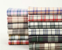 Good quality Cotton plaid fabric,cotthon fabric--suit for shirts, bedding, bags, Home Furnishing activities, small objects--1/2 yard