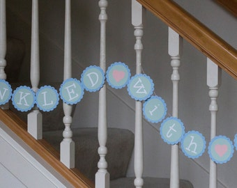 Sprinkled with Love banner, baby shower, baby sprinkle banner