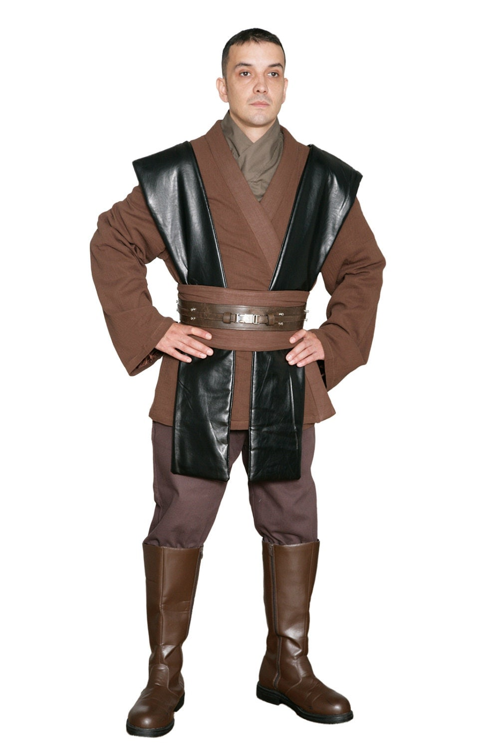 star wars anakin skywalker jedi costume tunic only jr 1400. Black Bedroom Furniture Sets. Home Design Ideas