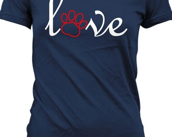 I Love My Dog T Shirt Gifts For Dog Lovers Nerd T-Shirt Geekery Ladies Tee MD-136