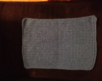 Blue Crocheted Placemats