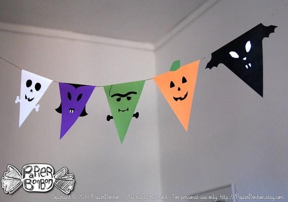 Guirlande fanion halloween d coration diy bricolage imprimable - Guirlande halloween a imprimer ...