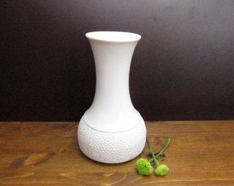 Mid Century bisque porcelain vase Thomas (Bavaria)/Bisquit Vase/Porzellanvase weiß Thomas Germany, 60er 70er vintage