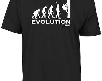 Evolution climb - mountain climber, rock climber t-shirt