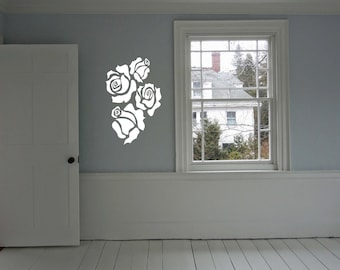 Rose Wall Decal Bouquet Living Room  Wall Art Sticker Decal nm126