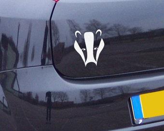 12in Magical Badger Gloss Vinyl Car Sticker Decal, Unique Design