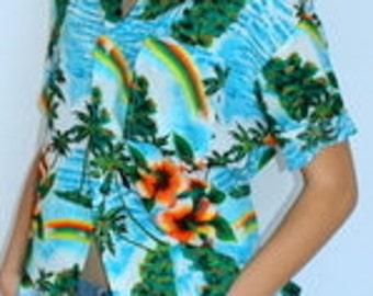 Vintage 1970's Hawaiian Print Shirt
