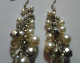 Disco Balls & Pearls Earrings