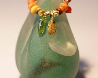 Gypsy Hoop Earrings, Solid Gold Hoop Earrings, Boho Chic Earrings, Handmade 24k Solid Gold Beads, Women's Earrings, Antique Bead Jewelry