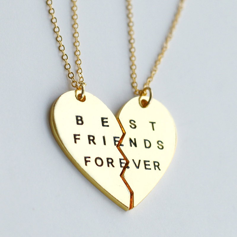 gold best friends forever necklace best friend by