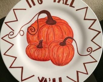 Fall Pumpkins Plate Decoration