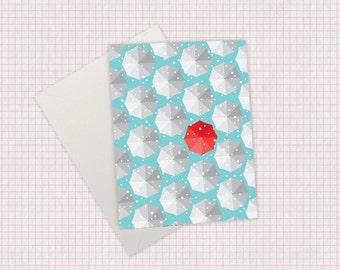 Snowy Umbrella Card – Holiday/Christmas