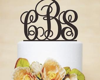 Initial Cake Topper,Monogram Cake Topper,Wedding Cake Topper,Personalized Acrylic Cake Topper,Bridal Cake Topper,Bride and groom-I013