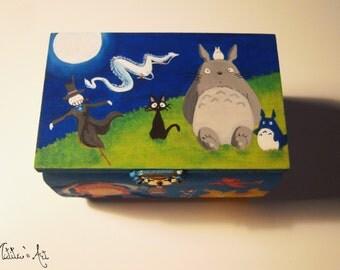 Studio Ghibli hand painted boxes series / Hayao Miyazaki Box (1)