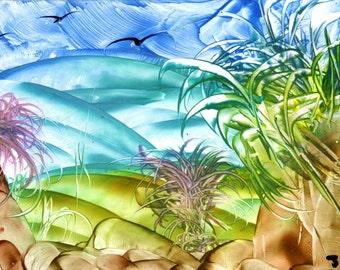 Fantasy landscape etsy for Wax landscape