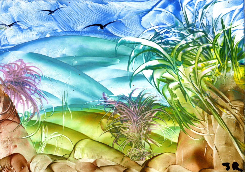 Fantasy landscape wax art for Wax landscape