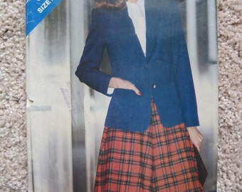 UNCUT Misses' Jacket & Skirt - Butterick Pattern 3285