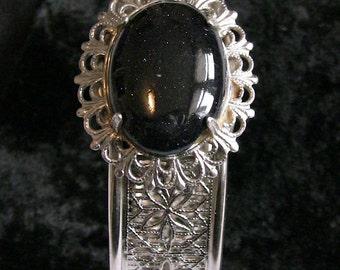 Vintage Goldstone Bangle Bracelet