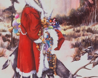 Christmas Card, Holiday Card, Greeted Christmas Card, Another Story, Goat