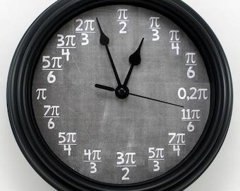MATH Calculus Unit Circle in Radians Teacher's WALL CLOCK