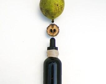 Black Walnut Ink, 2 oz amber bottle of triple-brewed handmade walnut brown drawing ink stain