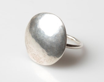 Domed ring, domed silver ring, Statement Ring, Chunky Ring, Large Silver Ring, Chunky Ring, Chunky Jewellery, Hollow Silver Ring