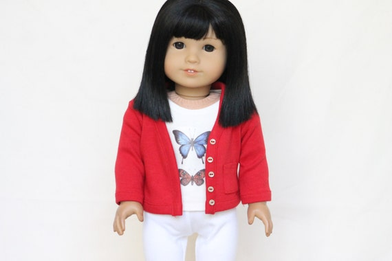 Red Cardigan for American Girl Dolls