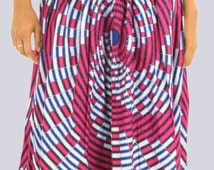 Long Skirt, Maxi Skirt, Boho Skirt, Long Boho Skirt, Maxi Boho Skirt, High Waisted Skirt, Tribal Print Skirt, African Print Skirt