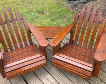 Bespoke Adirondack chairs made from reclaimed wood