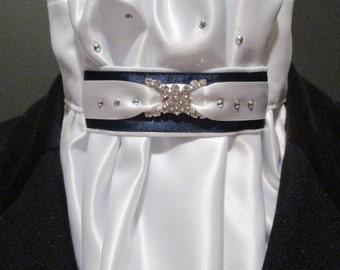 White Euro-style Dressage Stock Tie