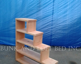 stair case shelf for bunk and loft bed