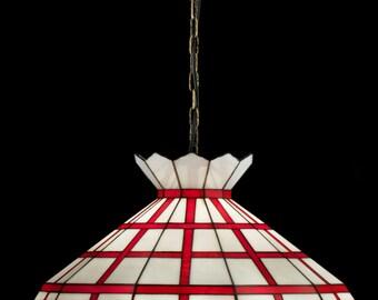 Shabby Chic Lamps, Shabby Chic Lighting, Shabby Chic Decor, Stained Glass Lamp, Shabby Chic Lampshades, Pendant Lamp, Ceiling Lamp Shade