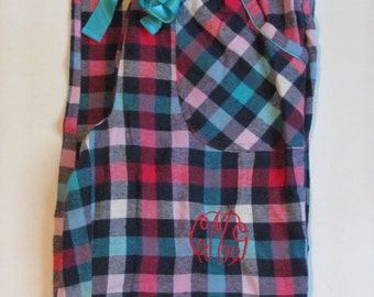Monogrammed Flannel Pajama Pants