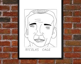 Badly Drawn Nicolas Cage - Poster