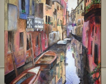 Original Painting of Venice using Acrylic Paints