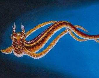 A World Under the Sun, Dragon Kite - Original or Print