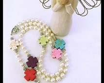 Beautiful & Colorful Catholic Rosary. Religious Gift.  Religious Mother Day Gift. Sacred Heart Rosay. Holy Rosary. Schoenstatt Cross Rosary.