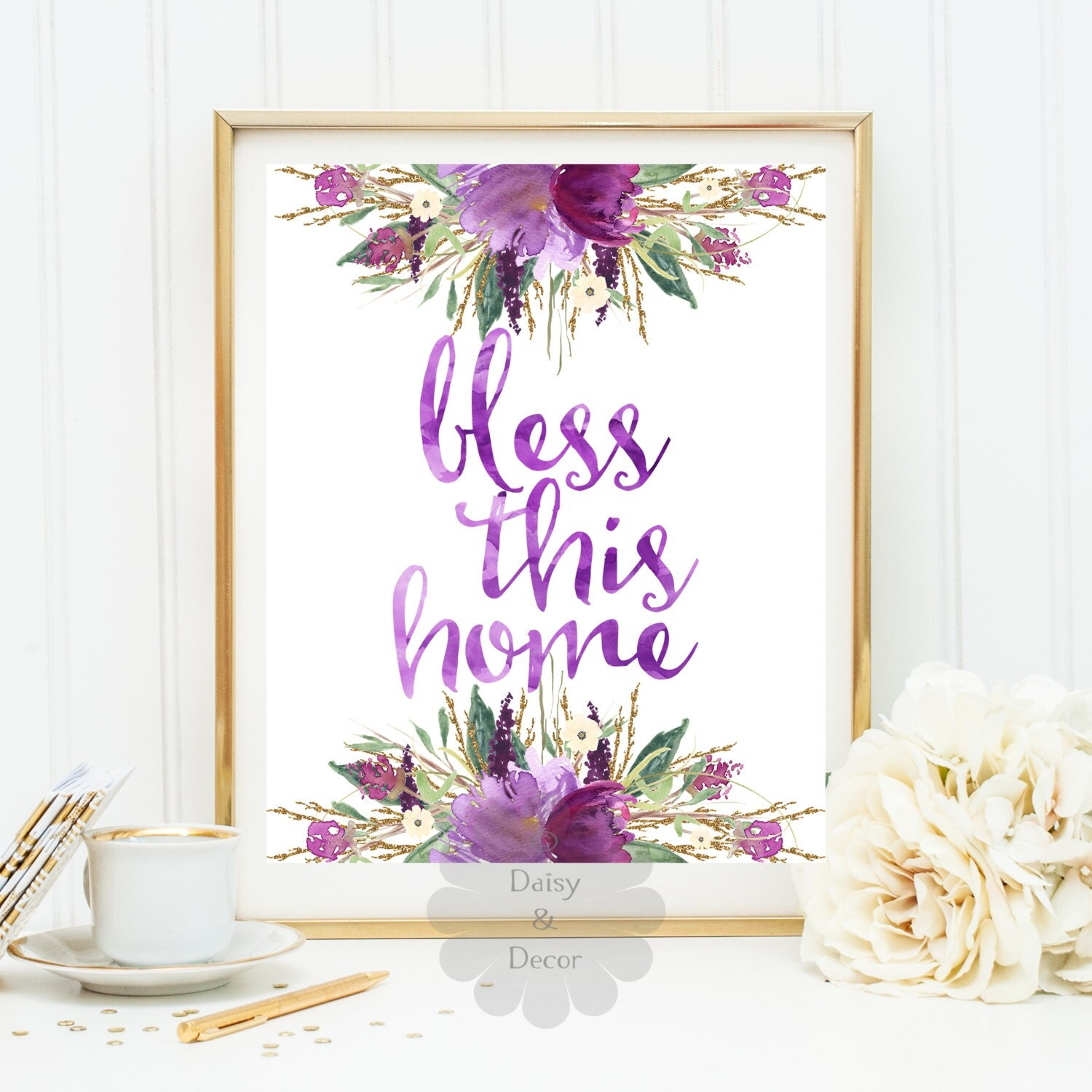 Christian Wall Decor For Nursery : Printable bless this home art print christian wall nursery