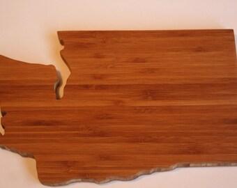 Washington Cutting Board - Custom Engraved Washington State Cutting Board - Perfect Wedding Gift, Engagement Gift, Housewarming Gift