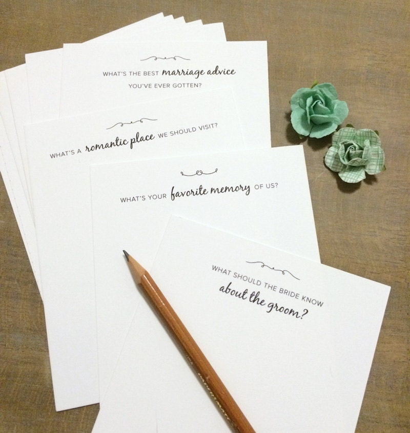 Wedding Advice: Wedding Question And Advice Cards For Guests Printable