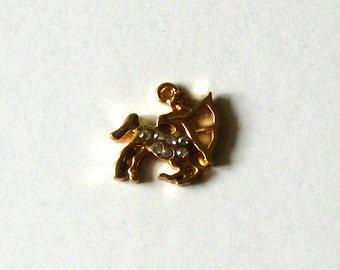 Sagittarius zodiac necklace jewelry, Sagittarius pendant charm with cubic zirconia crystals, zodiac sign charms, DIY jewelry making