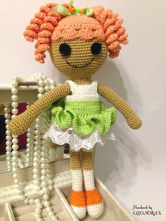 Amigurumi Doll Lalaloopsy : Lalaloopsy amigurumi toy / doll gift for girl green & white