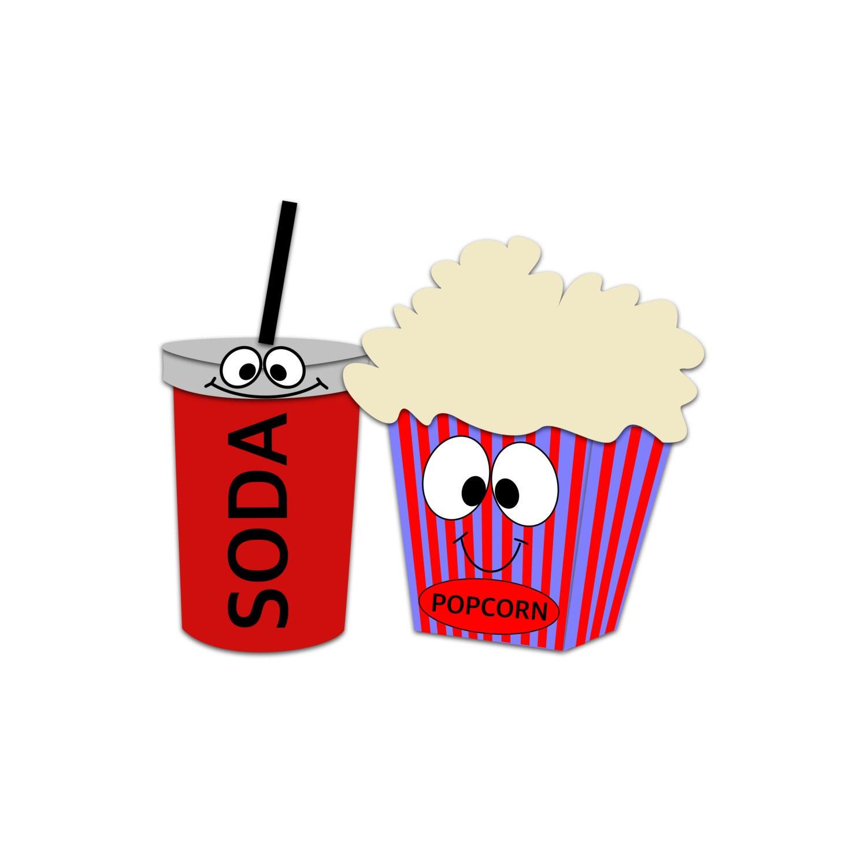 Popcorn Character Clipart Soda Clipart Movie Snacks