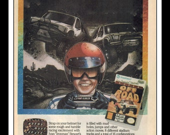 "Vintage Print Ad 1990's : Nintendo NES Super Off Road Art Decor 6.5"" x 10"""
