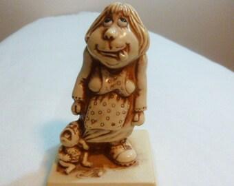 Vintage, collectibles, Figurine,Russ  Berrie,Sillisculpt, retro figurine, Home decor, collectible  figurine