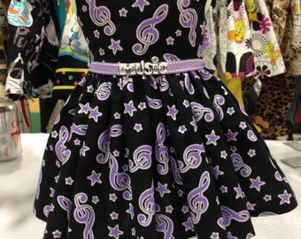 Music notes dress fits all 18 inch dolls including American Girl Doll