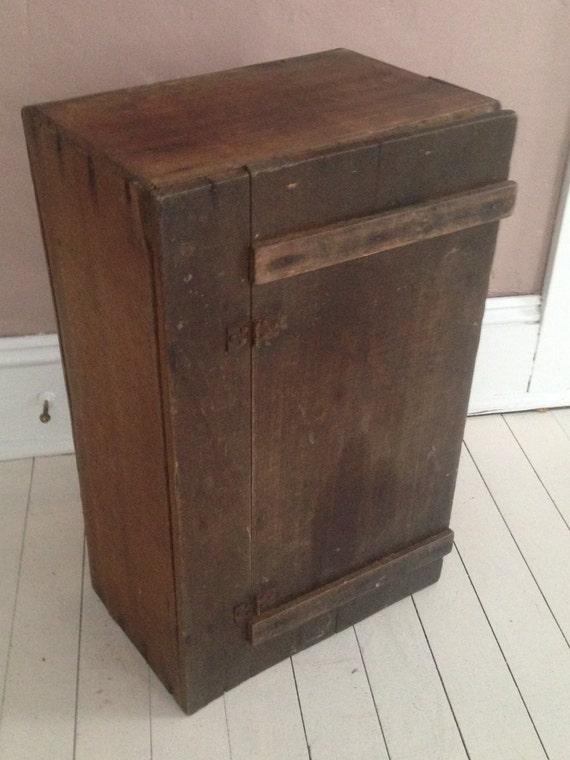 Antique primitive wooden cabinet storage by whatafindantiques