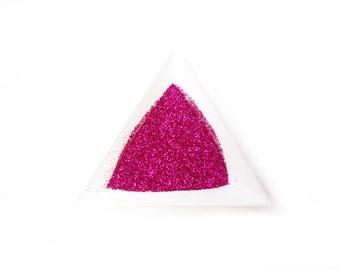 "Shocking Pink Loose Ultra Fine Glitter, .008"" Hex"