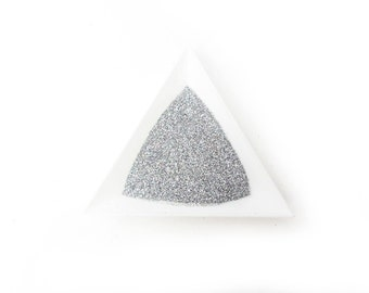 """Holographic Laser Silver Loose Ultra Fine Glitter, .008"""" Hex"""
