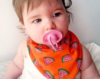 Baby Bandana Bib, Watermelon Bib, Baby Drool Bib, Dribble Bib, Cute Bib, Baby Boy Bib, Baby Girl Bib, Awesome Bandana Bib